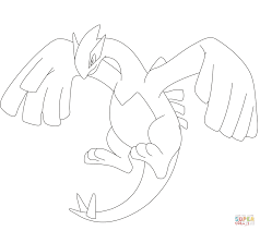 lugia coloring page free printable coloring pages
