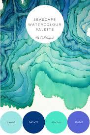 Watercolor Florida Map by Seascape Palette Oh So Tropical Color Palettes Pinterest