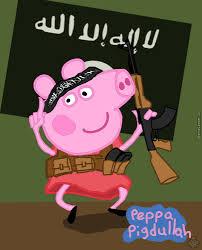 Peppa Pig Meme - hi i am peppa pig and you are an infidel allahu akbaaarr by