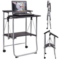 Drafting Table Computer Desk by Costway Folding Computer Desk Laptop Pc Table Workstation Study