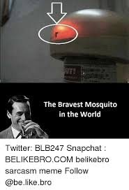 Mosquito Meme - a the bravest mosquito in the world twitter blb247 snapchat