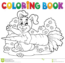coloring book rabbit theme 4 royalty free stock image image