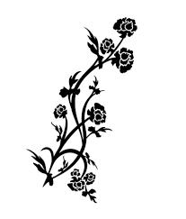 pindia black flower design wall sticker buy pindia black flower pindia black flower design wall sticker