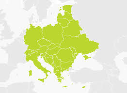 mapa europe map of central and eastern europe tomtom