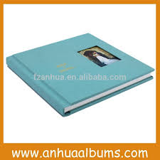 glass cover wedding photo albums design and print service for