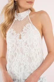 white lace blouses white blouse backless blouse lace top 29 tobi us