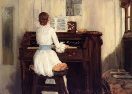 mrs chase playing the piano by william merritt chase 1883