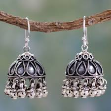 fair trade jewelry sterling silver chandelier earrings silver