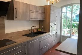 cuisine bois beton réalisations le mariage du bois et du béton de cuisines avec socoo c