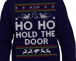 Ugly Christmas Sweater Party Poem - ho ho hodor etsy