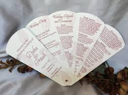 Hand Fan Wedding Programs Petal Fan Programs