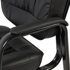 Office Chair Black Leather Best Choice Products Padded Leather Office Side Chair Black