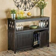 outdoor buffet wicker counter sideboard console brown serving