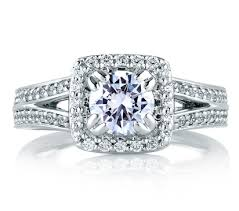 engagement rings square images Square halo split shank engagement ring engagement rings jpg