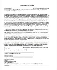 generic liability waiver and release form cvletter billybullock us