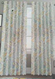 Yellow And Blue Curtains Curtain Fearsome Teal And Gray Curtains Picture Concept Grey