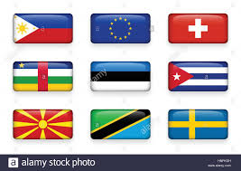 Flag Of The Central African Republic Set Of World Flags Rectangle Buttons Philippines European