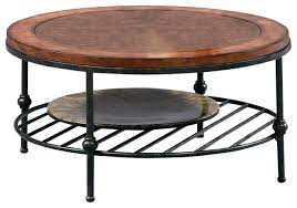 faux leather coffee table round cocktail table with faux leather top and gun metal base round