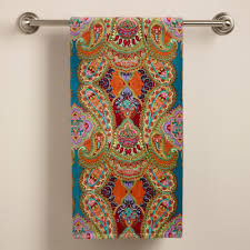 venice printed bath towel world market for our bathroom our