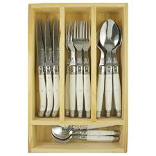 laguiole by louis thiers lineaire 24 piece cutlery set temple