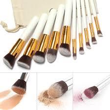 aliexpress buy new arrival 10pcs silver gold makeup brushes 10 pcs superior professional soft cosmetics make up