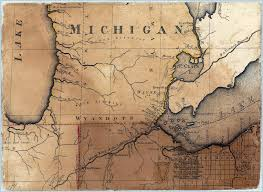 Mi Map 1808 Michigan Map