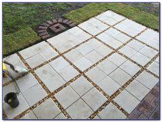 Concrete Patio Pavers by From Having A Very Damp Area In Our Patio Where No Grass Grew We