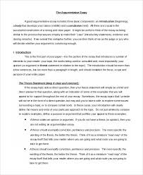 argumentative essay sample 9 examples in pdf word