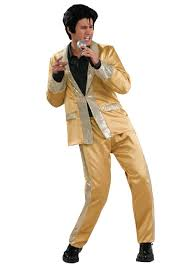 Deluxe Womens Halloween Costumes Deluxe Gold Elvis Costume Elvis Halloween Costumes