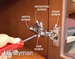 how to repair kitchen cabinet hinges kitchen cabinets 9 easy repairs family handyman