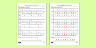 filling in missing numbers on a number line to 50 worksheet