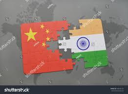 China On The World Map by Puzzle National Flag China India On Stock Illustration 448436725