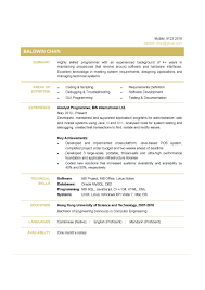 Resume Sample For Computer Programmer Programmer Resume Behavior Intervention Specialist Objective