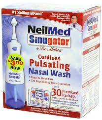 amazon com neilmed sinugator cordless pulsating nasal wash with