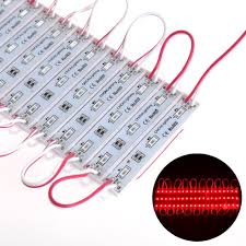 12 volt red led lights 1000pcs led module light red color 3 smd 5050 led dc12v billboard