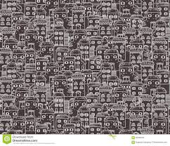 vector seamless cartoon pattern made of houses in european style