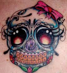 girly sugar skull with bow girly sugar skull with bow