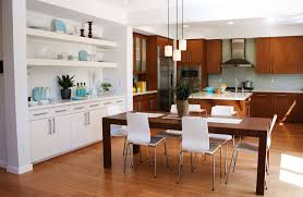 vintage home interiors modern kitchen and dining room design ideas with wooden dining