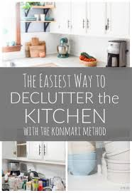 decluttering the kitchen with konmari