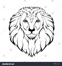 vector sketch lions head isolated on stock vector 414674044