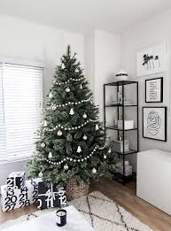 White Christmas Tree With Black Decorations Minimal Scandinavian Christmas Tree Homey Oh My