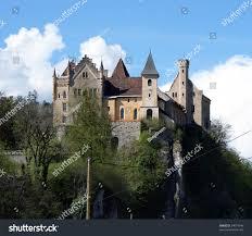 small castle on hill sunny dayaustria stock photo 34074046