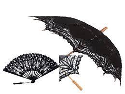 black lace fan black embroidered battenburg lace parasol w lace fan