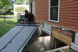 How To Dig Out A Basement by Install A Basement Bulkhead Door Extreme How To