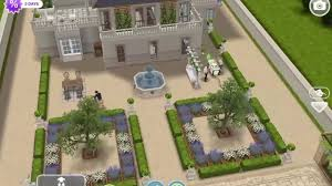 sims freeplay romantic french chateau original house deisgn