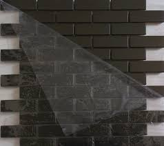stainless steel mosaic tile backsplash brushed black metal mosaic tiles smmt027 stainless steel mosaic