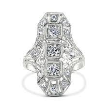 Art Deco Wedding Rings by Art Deco Engagement Rings Gerard Leon