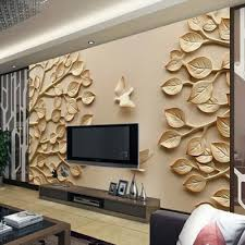 wallpapers in home interiors 3d wallpaper for tv wall units that will make a statement home