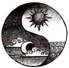 image result for ying yang sun and moon drawings cool pics