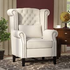 Upright Armchair Three Posts Porter Wingback Chair U0026 Reviews Wayfair